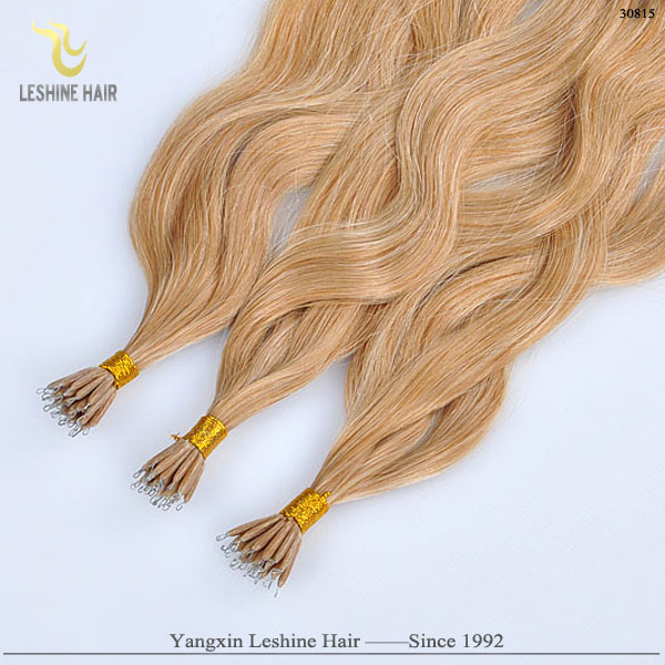 YBY free package italian glue double drawn cheap remy 30 inch nano ring virgin remy hair