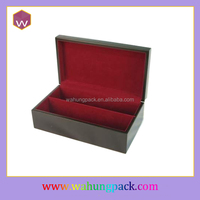 Luxury MDF Single Bottle Wine Box /Custom Design Wood Wine Gift Package Box