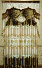 embossed velvet plus jacquard cloth patchwork embroidery, living room curtain fabrics