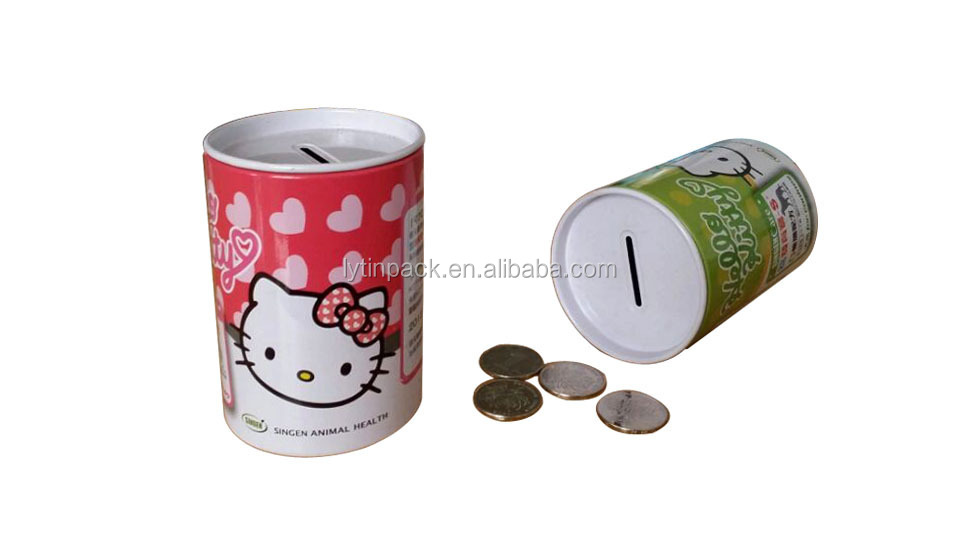 Custom cartoon tin money bank