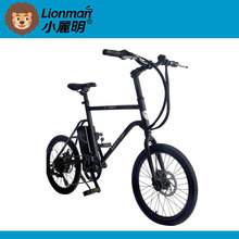 Classic motorized bicycle frame with gas tank ebike