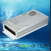 24 v waterproof outdoor led switch power supply 600w max 50A IP 68