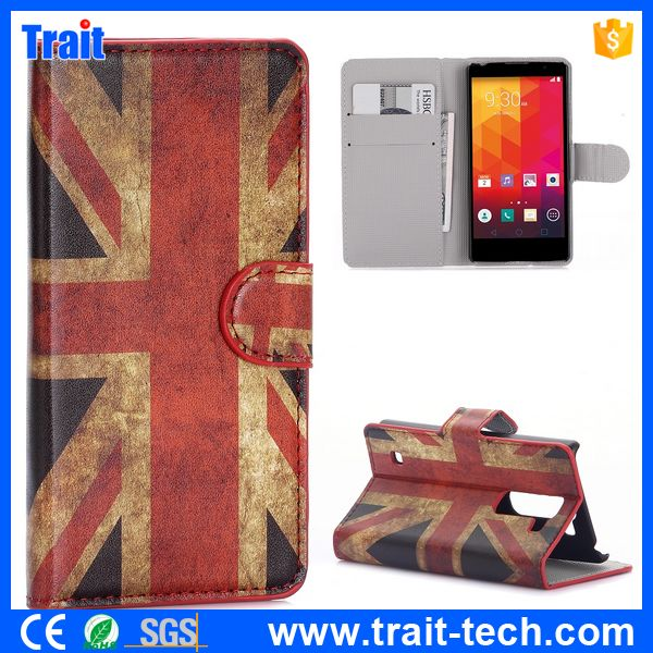 America National Flag Wallet Style Magnetic Flip Stand PC+ PU Leather Case for LG Spirit H440N H420 C70
