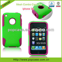silicone+pc case for iphone 3g mobile phone