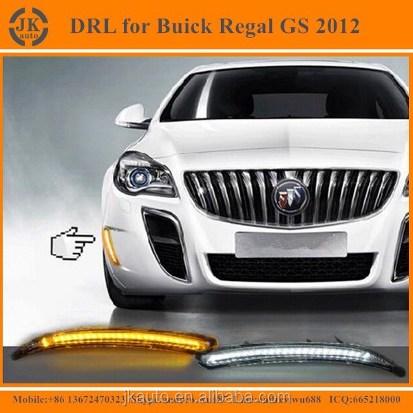 Hot Selling Car Specific LED DRL for Buick Regal GS Super Quality LED Day Running Light for Buick Regal GS 2012 with turn signal