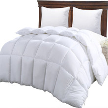wholesale Cheap Hotel Home White cotton fabric 100% Polyester filling Bed Microfiber Comforter for usa market