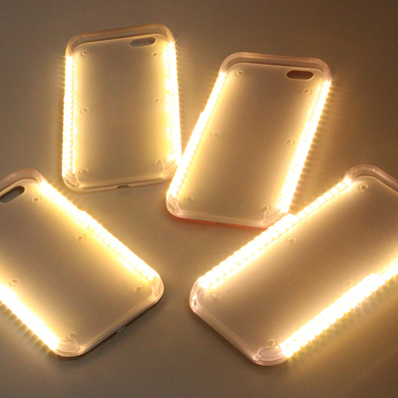 New arrival light up selfie light <strong>case</strong> for mobile phone