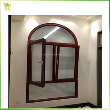 Customized interior and exterior arch window , aluminium tilt and turn window