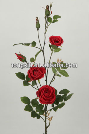 27012N red rose brand natural looking plantae organza silk flower supplier with wholesale price
