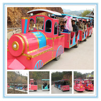 Amusement park used mini electric train,electric tourist train for sale