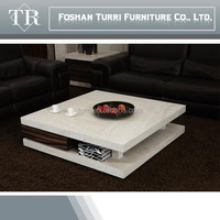 luxury furniture modern square marble coffee table center table
