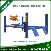 440D Alignment four post lift Driven by hydraulic cylinder in stable lifting and lowering