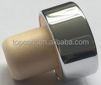 plated aluminium cap bottle stopper TBE19.8-33.4-20.5-15.6-11.6g silver