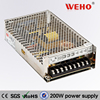 ISO9001 CE Rohs 12v dc constant voltage led power driver 200w 12v power supply