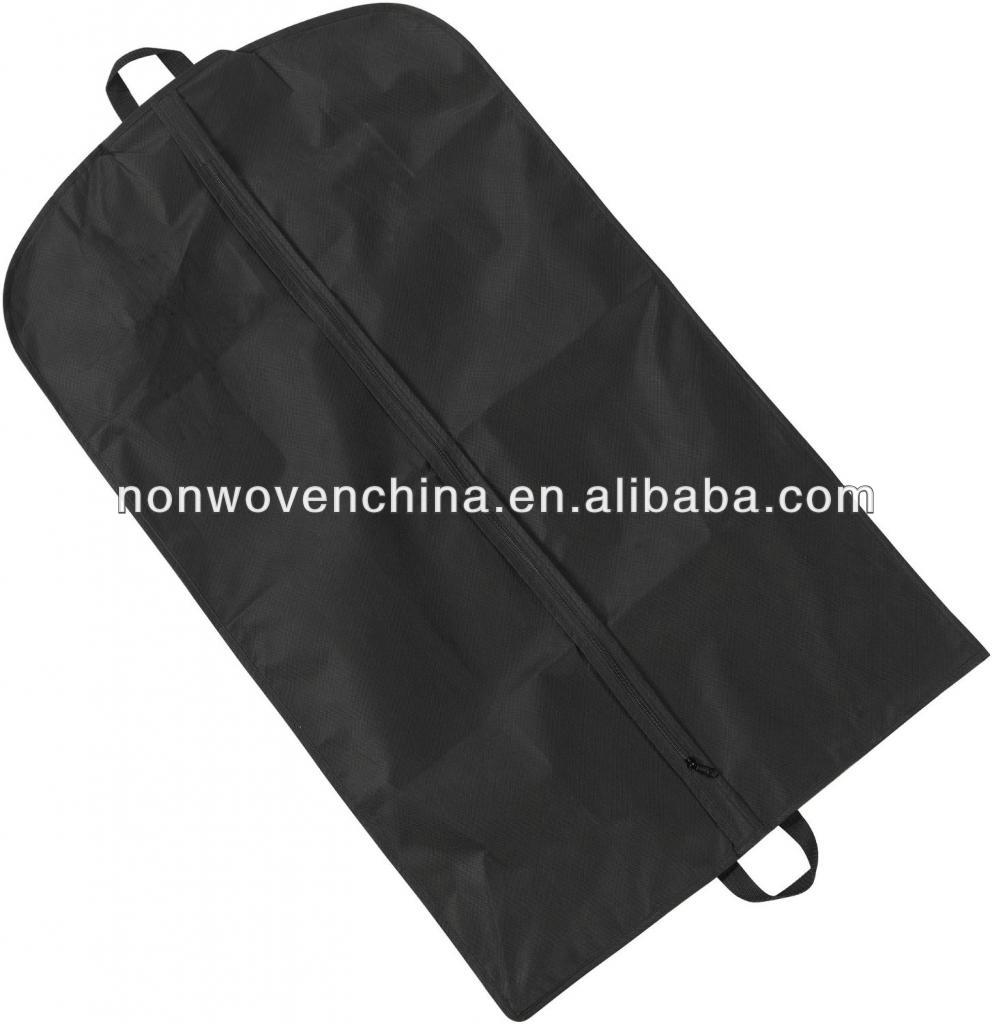 Black nonwoven fabrics for suit bags