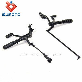 Custom Black Iron Motorcycle Forward Controls Brake Shift Assembly Footrest Kits For Sportster XL Roadster 1622-0140