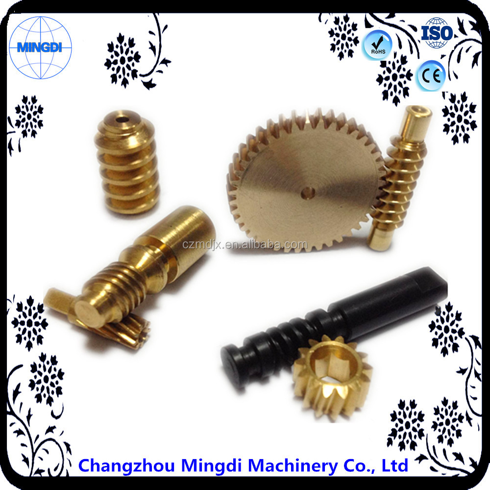Mini Differential Worm Gear Transmission Parts for electric motor with reduction gear
