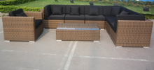 American rattan furniture large big outdoor sofas with chaise lounge set