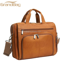 vintage business men satchel messenger shoulder bag leather briefcase laptop bag