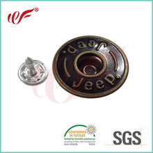 metal dome jeans button with plating anti-copper