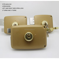 HIGH QUALITY MOROCOO UCEM RIM LOCK with hook 4125-140 WITH 3 TURNS
