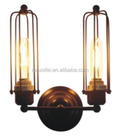 Premium Quality Wall Sconce Double Head Wall Lamp Industrial Iron Corridor Wall Lamp