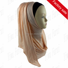 Factory Sale Jersey Instant Shawl 1 Face Slip On Shawls Women Muslim Hijabs