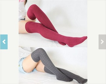 Thigh High Socks Cotton Boot Socks Women Leg Warmer