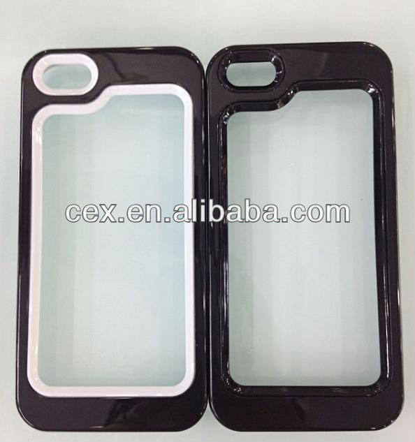 New Arrival Dual Color Bumper Frame Soft TPU Case for iPhone 4 4s