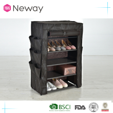 china wholesale household cleaning product non-woven simple shoe rack double line modern tall shoe cabinet