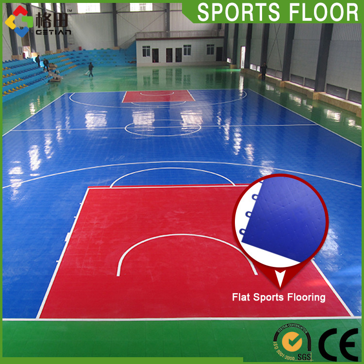 CE Standard Hot sale durable pp interlocking basketball court glossy flooring
