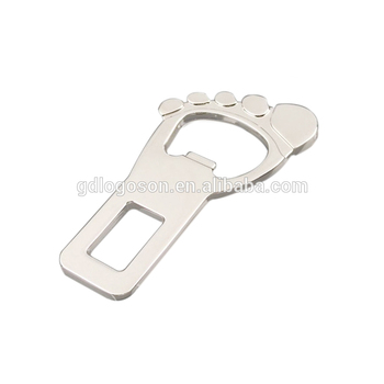 Unique Style Travel Souvenir Foot Shape Custom Design Flat Metal Bulk Beer Wine Opener Magnetic Bottle Opener