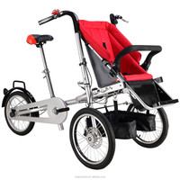 Original manufacture foldable similar 3 wheel mother baby quinny stroller bike for shopping