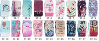 Fashion Flower Smile Tower Wallet Leather stand card holder case For Samsung Galaxy S7 G930 G9300