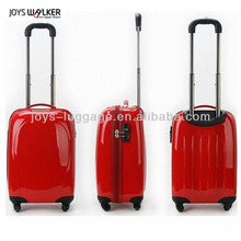 abs/pc bright red luggage 20 inch rolling case with spinner for wedding