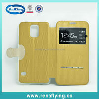 PU leather flip cover case for samsung galaxy s5 i9600 with wholesale price