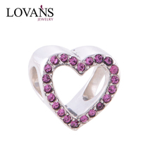 Brand New 925 Sterling Silver Charms Heart Shape Medical Alert Charms Wholesale Pave Setting Jewelry