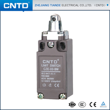 CNTD Good Performance Metal Shell Steel Roller Plunger 12V Mini Limit Switch (CZE-00-BM)