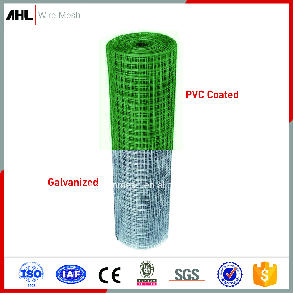 "2X2 PVC Coated Electric 3/4""Inch Hot Dipped Galvanized Stainless Steel Welded Wire Mesh Roll"