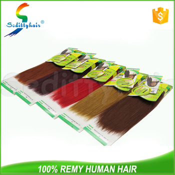 wholesale cheap price yaki wave remy hair New Premium brazilian human remy hair extension with different color