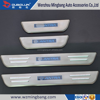 Stainless Steel Car Accessories LED Door Sills Scuff Plate For 2012 Hyundai Elantra