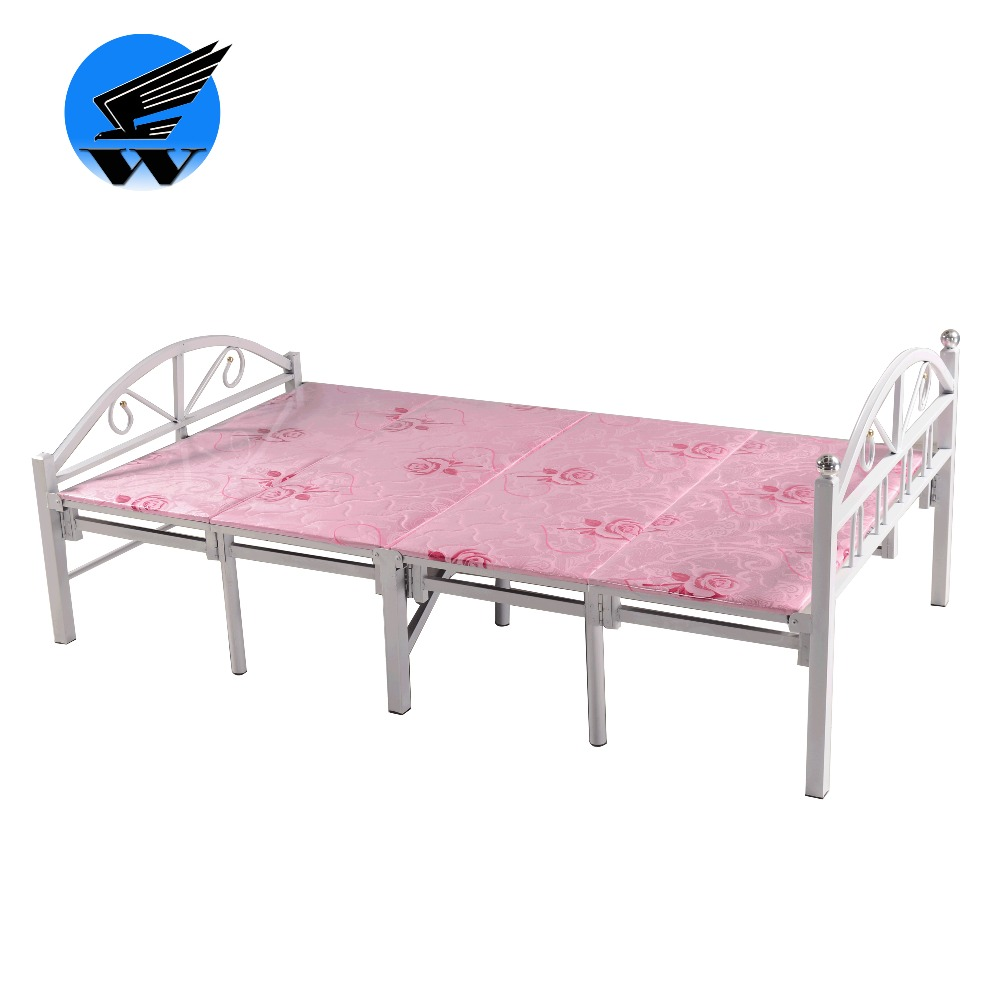 Latest metal foldable bed simple designs