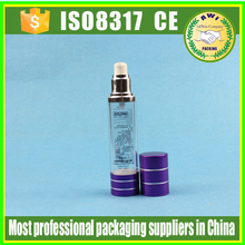 2016 hot sale PP cosmetic 50ml airless bottle for cream,30ml PP airless pump bottle