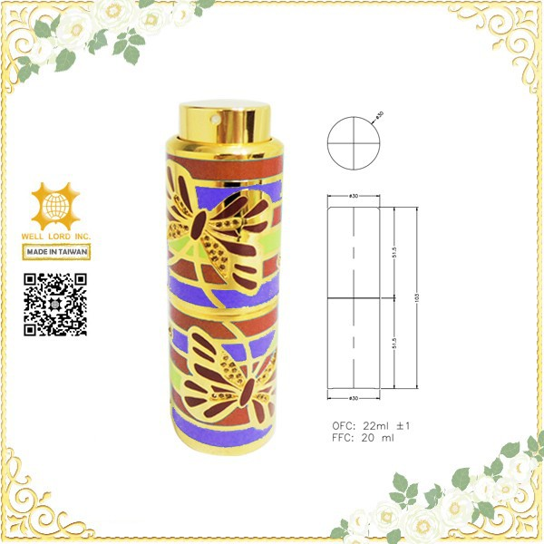 Fancy golden arab oriental style hot sale in Dubai perfume oil retractable spray