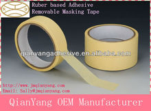 One Sided Adhesive Paper Tape/Crepe Paper Maskig Tape