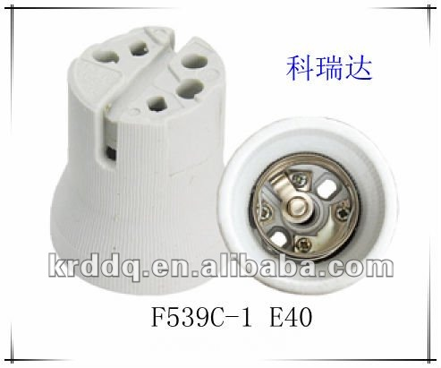 E40 porcelain types of lamp socket with CE and ROHS certification