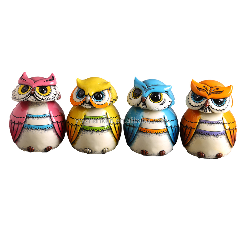 cute painted hobby potterys owl money box