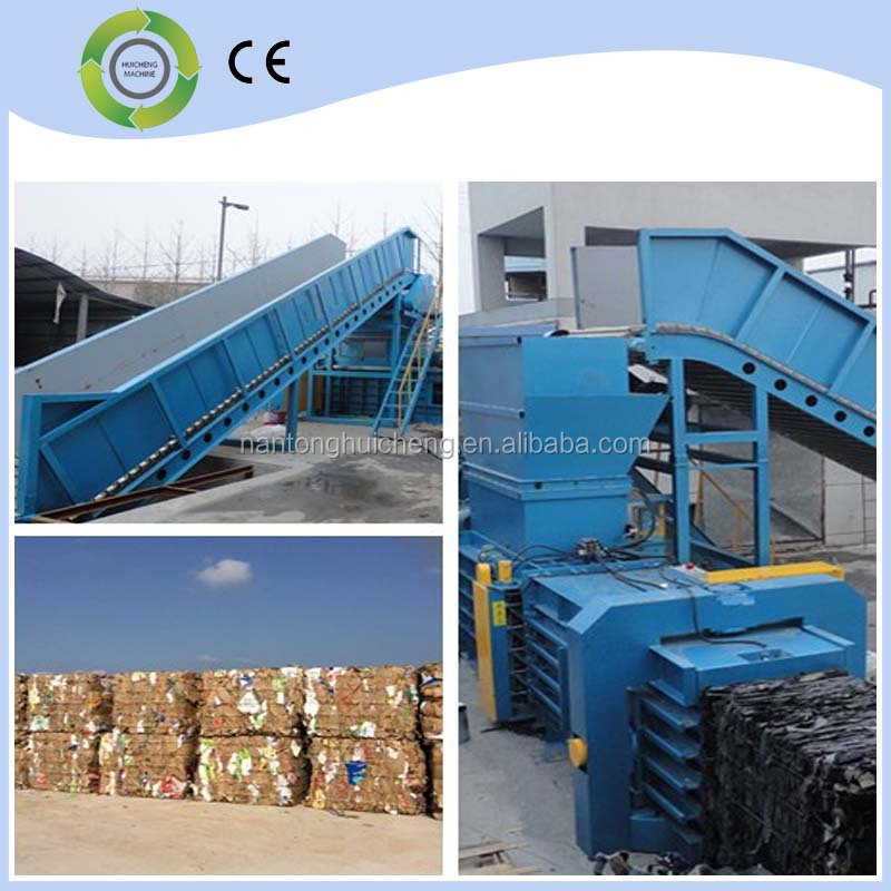Top Environmental Protection Equipment!!! Automatic Horizontal Baler compactor