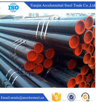 Trade Assurance astm a106 gr.b Small Od Black Oil and Gas erw carbon steel pipe Welding Used for Irrigation / Construction