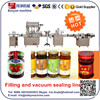 YB-ZKJ4 Automatic glass bottle/Jar Tomato Paste, ketchup, Chili Sauce Filling and Capping Machine, Vacuum capping machine